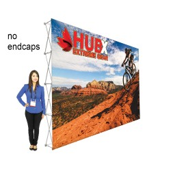 15ft X 10ft RPL Fabric Pop Up Display - Straight Graphic Package