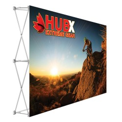 7.5 ft. RPL Fabric Pop Up Display - 5ft h Straight Graphic Package