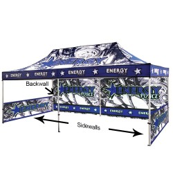20 ft. Canopy Aluminum Tent - Full-Color UV Print Package