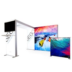 SEGO 10ft x 10ft. Lightbox Modular Display Double Sided